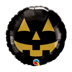 "JACK FACE BLACK & GOLD 9"" FLAT"