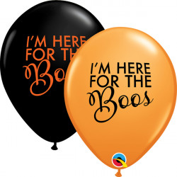 "SIMPLY HERE FOR THE BOOS 11"" ORANGE & ONYX BLACK (25CT)"