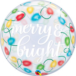 "MERRY & BRIGHT LIGHTS 22"" SINGLE BUBBLE"