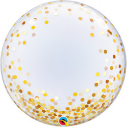 "CONFETTI DOTS GOLD 24"" DECO BUBBLE"