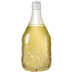 "GOLDEN BUBBLY WINE BOTTLE 39"" SHAPE GROUP B PKT"