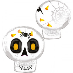 "3D CUTE HALLOWEEN SKULL MULTI BALLOON SHAPE P60 PKT (22"" x 25"")"