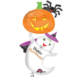 "GHOST & PUMPKIN MULTI BALLOON SHAPE P70 PKT (28"" x 54"")"