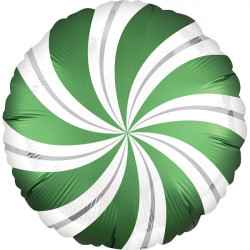 SATIN INFUSED EMERALD CANDY SWIRL STANDARD S40 PKT