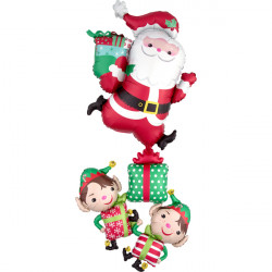 "CHRISTMAS CHARACTERS STACKER MULTI SHAPE P70 PKT (29"" x 63"")"