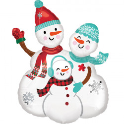 "SNOW FAMILY SHAPE P30 PKT (23"" x 31"")"