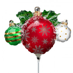 ORNAMENT CLUSTER MINI SHAPE A30 INFLATED WITH STICK & CUP