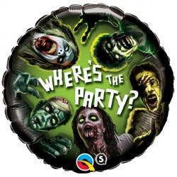 "ZOMBIE PARTY 18"" PKT (5 PACK)"