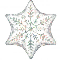 "DAZZLING SNOWFLAKE 22"" SHAPE GROUP A PKT (5 PACK)"