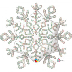 "SPARKLE SNOWFLAKE 40"" SHAPE GROUP D PKT (5 PACK)"