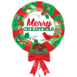 CHRISTMAS WREATH SHAPE P30 PKT (5 PACK)