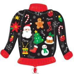 UGLY CHRISTMAS JUMPER SHAPE P30 PKT (5 PACK)