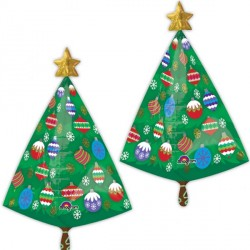 CHRISTMAS TREE WITH STAR ULTRA SHAPE P40 (5 PACK)