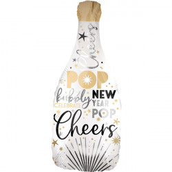 "SATIN INFUSED BUBBLY NEW YEAR SHAPE P30 PKT (14"" x 36"")"