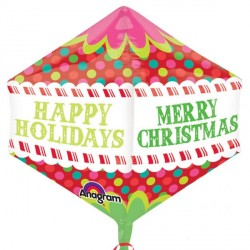 "COLOURFUL DOTS MERRY CHRISTMAS ANGLEZ G20 PKT (17"" x 21"") (5 PACK)"