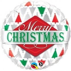 "MERRY CHRISTMAS TREE PATTERNS 18"" PKT"