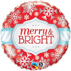 "MERRY & BRIGHT SNOWFLAKES 18"" PKT"