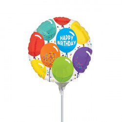 "CELEBRATION BIRTHDAY 9"" A15 INFLATED WITH CUP & STICK"
