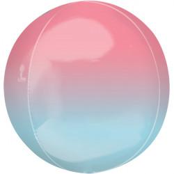 "PASTEL PINK & BLUE OMBRE ORBZ G20 PKT (15"" x 16"")"
