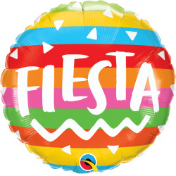 "FIESTA RAINBOW STRIPES 18"" PKT"