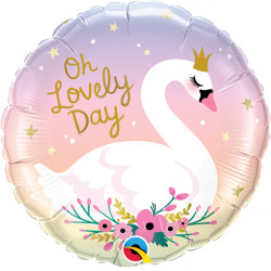 """OH LOVELY DAY SWAN 18"""" PKT IF"""