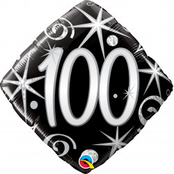 "ELEGANT SPARKLES & SWIRLS 100 18"" PKT"