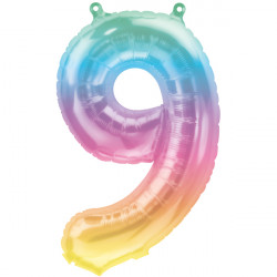 """JELLI OMBRE NUMBER 9 SHAPE 16"""" PKT"""