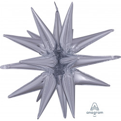 "SILVER MAGIC STAR LARGE MULTI BALLOON P70 PKT (30"" x 35"")"