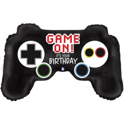 "GAME CONTROLLER BIRTHDAY 36"" SHAPE D PKT"
