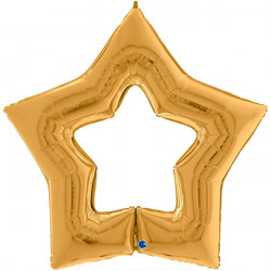 "GOLD LINKY STAR 48"" GRABO PKT"