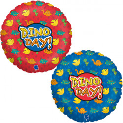 "DINO DAY BIRTHDAY 18"" PKT"