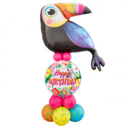 * TROPICAL TOUCAN BIRTHDAY AIRFILLED DISPLAY