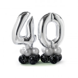 * ELEGANT 40TH BIRTHDAY AIRFILLED DISPLAY