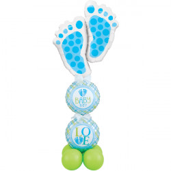 * BABY BOY FOOTPRINTS AIRFILLED DISPLAY