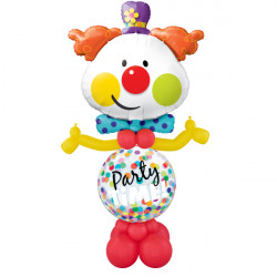 * PARTY TIME CLOWN AIRFILLED DISPLAY