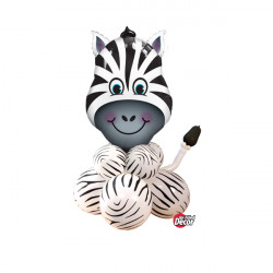 * ZANY ZEBRA AIRFILLED DISPLAY