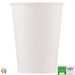 COMPOSTABLE WHITE PAPER CUPS 200ml (10CT X 6 PACKS)