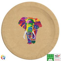 ELEPHANT COMPOSTABLE PAPER PLATES 23cm (8CT X 6 PACKS)