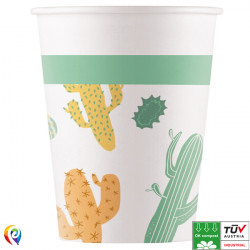 CACTI COMPOSTABLE PAPER CUPS 200ml (8CT X 6 PACKS)