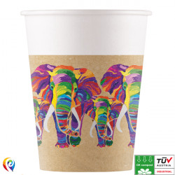 ELEPHANT COMPOSTABLE PAPER CUPS 200ml (8CT X 6 PACKS)