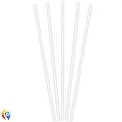 WHITE PAPER STRAWS 195x50mm (20CT X 6 PACKS)