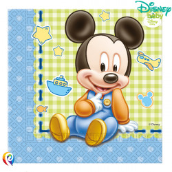 BABY MICKEY MOUSE NAPKINS 2-PLY 33cm (20CT X 6 PACKS)
