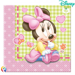BABY MINNIE MOUSE NAPKINS 2-PLY 33cm (20CT X 6 PACKS)