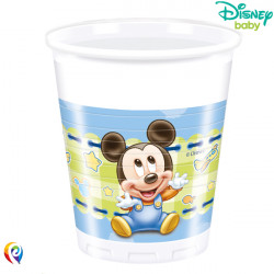 BABY MICKEY MOUSE PLASTIC CUPS 200ml (8CT X 6 PACKS)