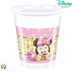 BABY MINNIE MOUSE PLASTIC CUPS 200ml (8CT X 6 PACKS)