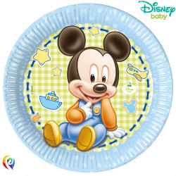 BABY MICKEY MOUSE PAPER PLATES 23cm (8CT X 6 PACKS)