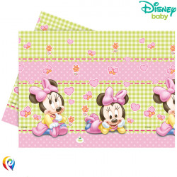 BABY MINNIE MOUSE TABLE COVER 120cmx180cm (8CT X 6 PACKS)
