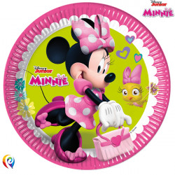 MINNIE MOUSE PAPER PLATES LARGE 23cm (8CT X 6 PACKS)