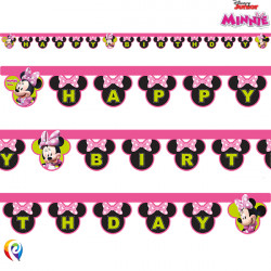 MINNIE MOUSE BIRTHDAY PAPER BANNER (1CT X 6 PACKS)