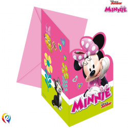 MINNIE MOUSE INVITATIONS & ENVELOPES (6CT X 6 PACKS)
